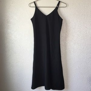 vintage matte black full slip dress 36